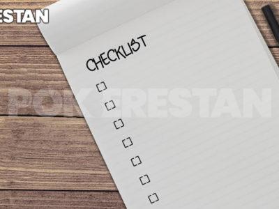 آموزش استفاده از چک لیست در پوکر