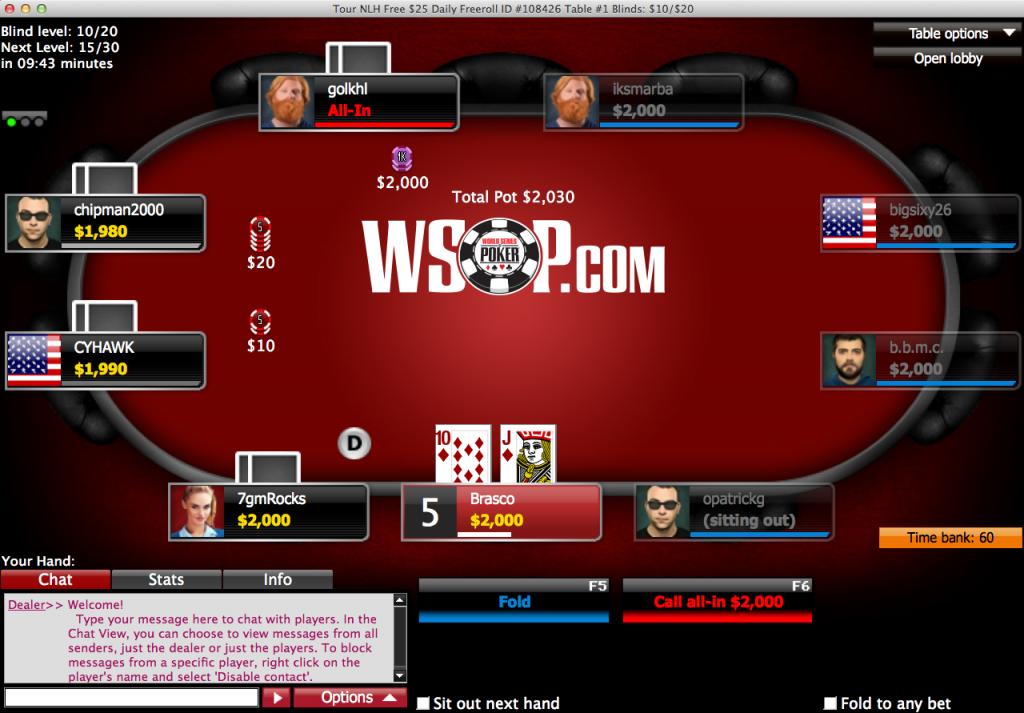 تورنومنت پوکر WSOP